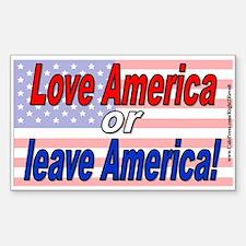 Love America or leave (sticker)