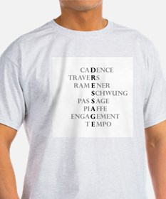 dressage language Ash Grey T-Shirt