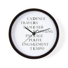 dressage language Wall Clock