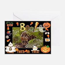 Bengal Cat Halloween Greeting Card