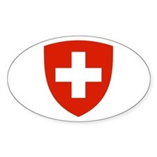 Swiss Shield Oval Decal