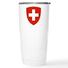 Swiss Shield Ceramic Travel Mug