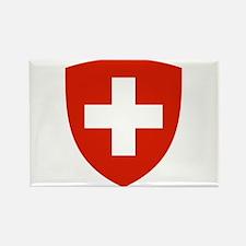 Swiss Shield Rectangle Magnet