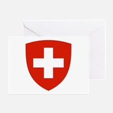 Swiss Shield Greeting Card