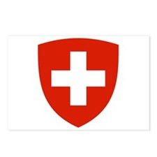 Swiss Shield Postcards (Package of 8)