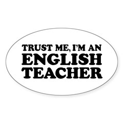 English Teacher Oval Decal