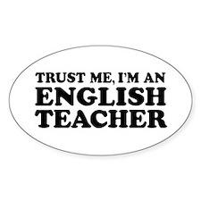 English Teacher Oval Decal