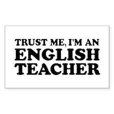 English Teacher Rectangle Decal
