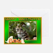 Bengal Cat Halloween Greeting Card