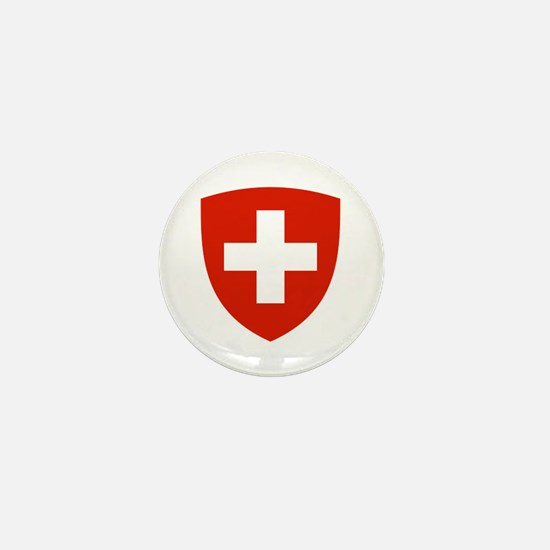 Swiss Shield Mini Button