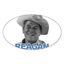 Reagan 1980 Election Oval Decal