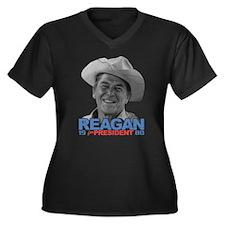 Reagan 1980 Election Women's Plus Size V-Neck Dark