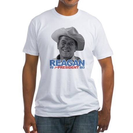 Reagan 1980 Election Fitted T-Shirt