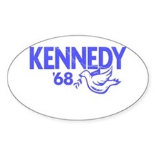 John Kennedy 1968 Dove Oval Decal