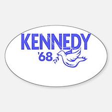 John Kennedy 1968 Dove Oval Decal