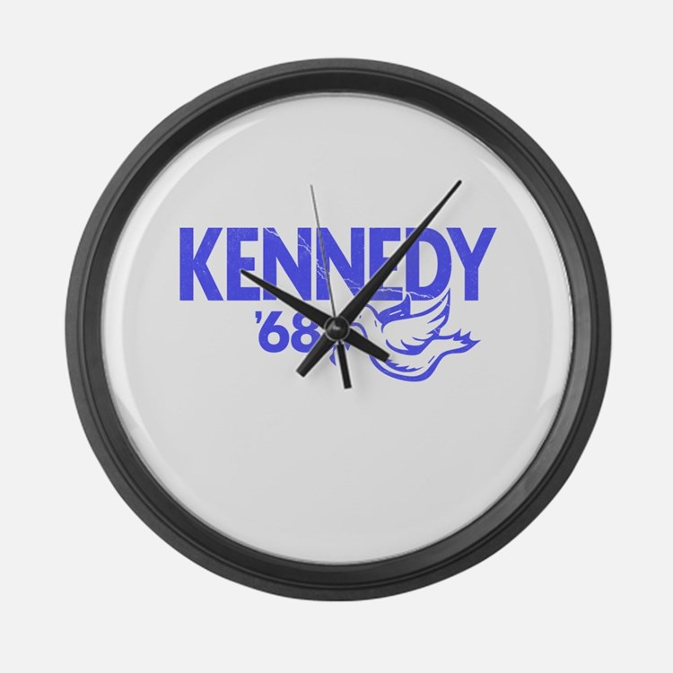 John Kennedy 1968 Dove Large Wall Clock