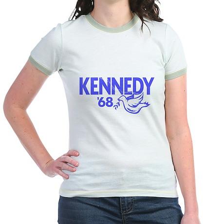 John Kennedy 1968 Dove Jr. Ringer T-Shirt