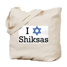 I star-of-david Shiksas Tote Bag