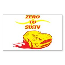 Zero to Sixty Rectangle Decal