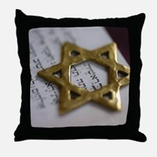 Jewish Star Throw Pillow