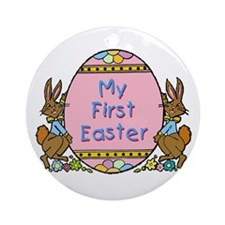 First Easter with Egg Ornament (Round)