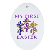 Christian 1st Easter Ornament (Oval)