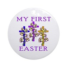 Christian 1st Easter Ornament (Round)