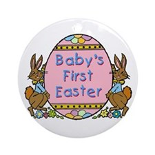 Baby's First Easter Ornament (Round)