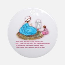 Mother Goose Hush Baby Dolly Ornament (Round)