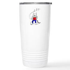 Harmonica Cat Travel Coffee Mug