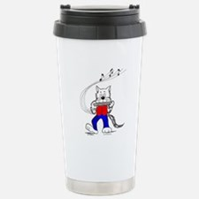 Harmonica Cat Travel Mug