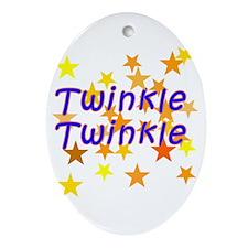 Twinkle Twinkle Little Star Oval Ornament