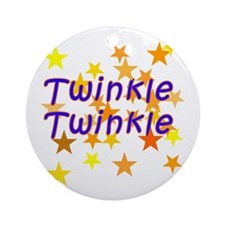 Twinkle Twinkle Little Star Ornament (Round)