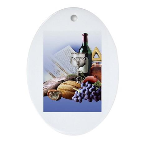 Jewish Oval Ornament