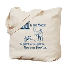 M is for Moose Tote Bag
