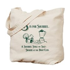 S is for Squirrel Tote Bag