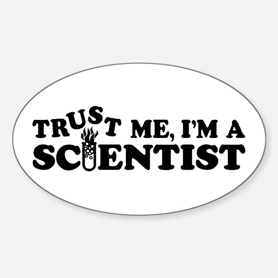 Scientist Oval Decal