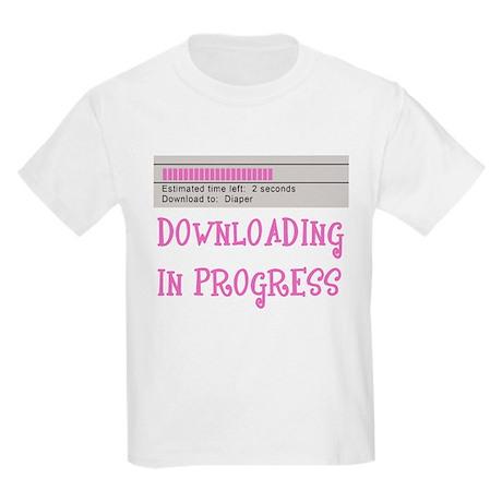 Diaper Download in Progress Kids Light T-Shirt