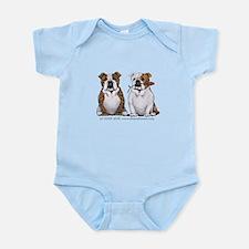 Bulldog Romance Infant Bodysuit