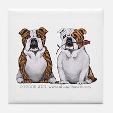 Bulldog Romance Tile Coaster
