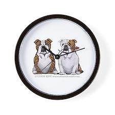 Bulldog Romance Wall Clock