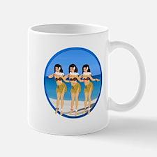 Three Hula Girls on Beach Mug