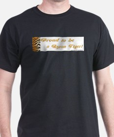 2 Proud To Be A Byron Tiger I Black T-Shirt
