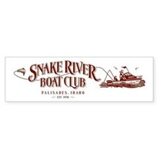 Boat Club Maroon Bumper Bumper Sticker