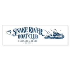 Boat Club Blue Bumper Bumper Sticker