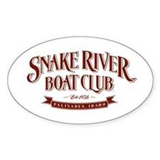 Boat Club Maroon Oval Decal