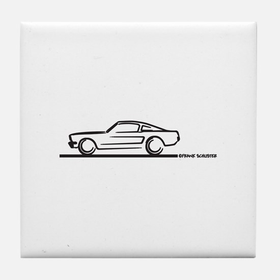 Mustang 64 to 66 Fastback Tile Coaster