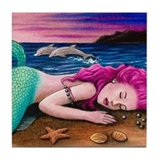 Mermaid 12 Tile Coaster