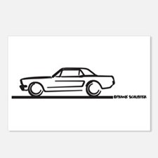 Mustang 64 to 66 Hardtop Postcards (Package of 8)