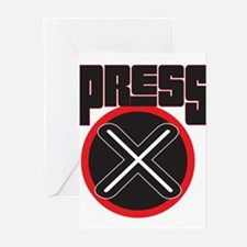 Press X Greeting Cards (Pk of 20)